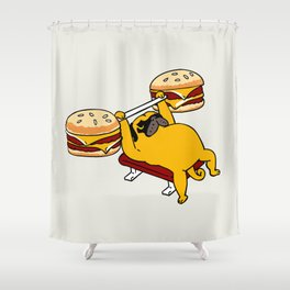 Double Cheeseburger Monday Shower Curtain