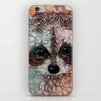 kit king iPhone & iPod Skins featuring Kit by Col Mitchell Paper Artist