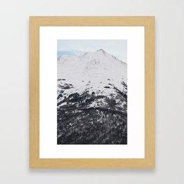 Snow Covered Mountainside Framed Art Print