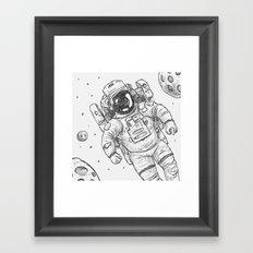 astro Traveller Retro Framed Art Print
