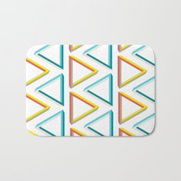 Impossible triangles geeky pattern. Bath Mat