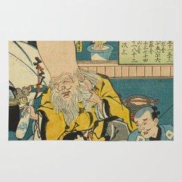 A long head Japanese person Ukiyo-e Rug