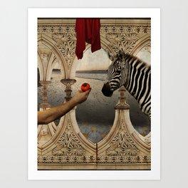 The last walk in the garden of Eden Art Print