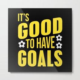 Soccer Goals Metal Print