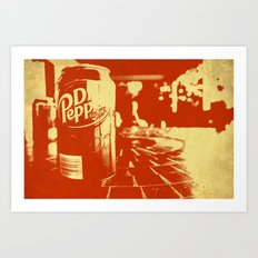 Pop Dr. Pepper Art Print