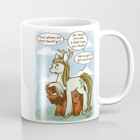 legolas Mugs featuring Legolas and Gimli ponies MLP Lord of the Rings Crossover Parody  by BlacksSideshow