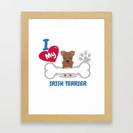 IRISH TERRIER - I Love My IRISH TERRIER Gift Framed Art Print