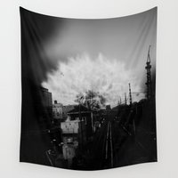subway Wall Tapestries featuring Dandelion Subway by Nick Boyer