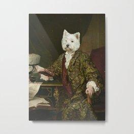 Portrait of a civilized Westie Metal Print