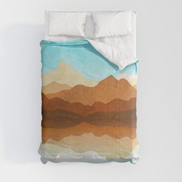 Western Sky Reflections In Watercolor Comforters