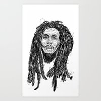 marley Art Prints featuring Marley  by Icon Ink