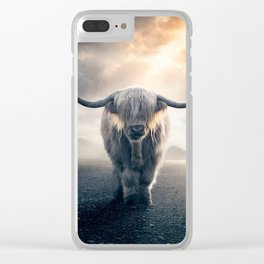 highland cattle scotland Clear iPhone Case