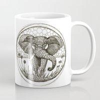 ellie goulding Mugs featuring African Ellie by Sandibearskin