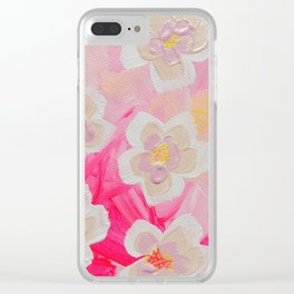 Pink Orchard Clear iPhone Case