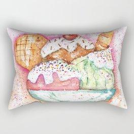 Ice Cream Watercolor Rectangular Pillow