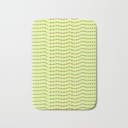 triangles and green-abstraction,abstract,geometric,geometrical,pattern,triangle,order Bath Mat