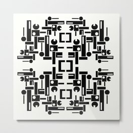 Black and White Geometrics  Metal Print