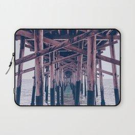 Balboa Pier Print {2 of 3} | Newport Beach Ocean Photography Magenta Summer Sun Wave Art Laptop Sleeve