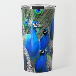 FLOCK OF BLUE PEACOCKS Travel Mug