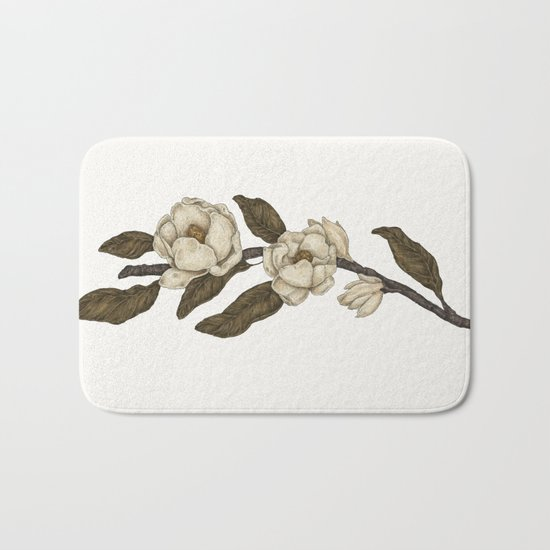 Magnolias Branch Bath Mat