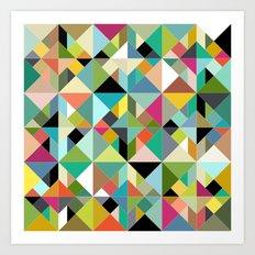 tangram geo multi Art Print