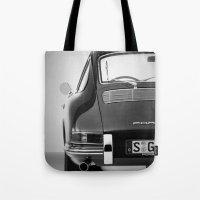 porsche Tote Bags featuring Porsche by CABINWONDERLAND