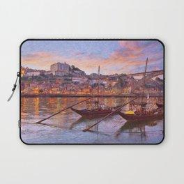 Porto at dusk Laptop Sleeve