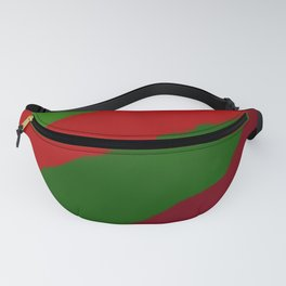 Red and Green Christmas Gift Fanny Pack