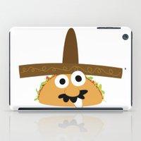 taco iPad Cases featuring Senior Taco by Pig & Pumpkin