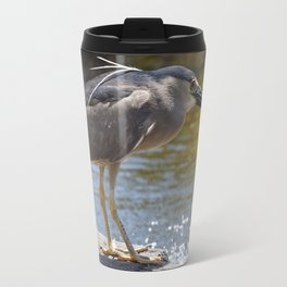 Blue Herron Posing Travel Mug
