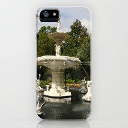 Forsyth Fountain in Forsyth Park iPhone Case