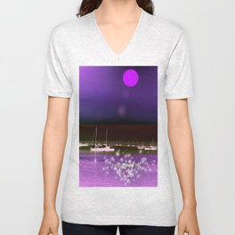 BoatsIn A Purple Dream Unisex V-Neck