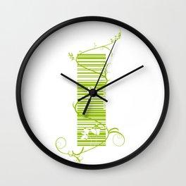 Barcode & Swirls Wall Clock