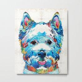 Colorful West Highland Terrier Dog Art Sharon Cummings Metal Print