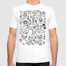 Comic Sans White MEDIUM Mens Fitted Tee