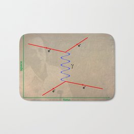Feynman Diagram Bath Mat