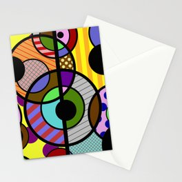 Patterned Retro - Geometric, Abstract Artwork Stationery Cards