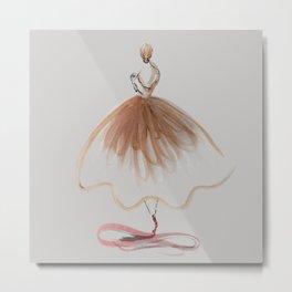 Elegant Ballerina Metal Print