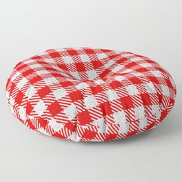 Red Buffalo Plaid Floor Pillow
