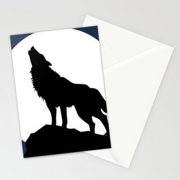 Wolf howling! Stationery Cards