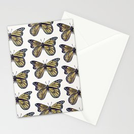 Gold Butterfly Stationery Cards
