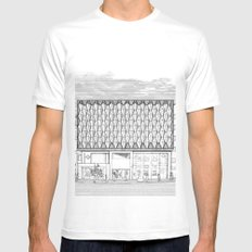 Oxford Street White MEDIUM Mens Fitted Tee