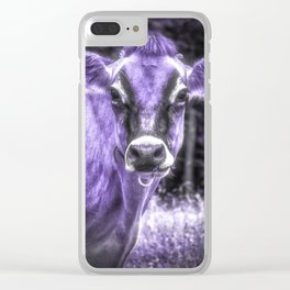 Ultraviolet Dairy Cow Clear iPhone Case