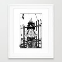 apollonia Framed Art Prints featuring asc 589 - La maison close (No trespassing) by From Apollonia with Love