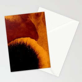 abstract 79 orange Stationery Cards
