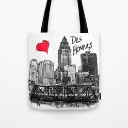 I love Des Moines Tote Bag