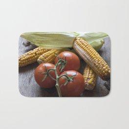 Tomatoe-Corn-Stillife Bath Mat