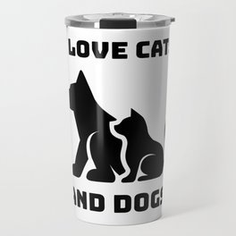 Cats and Dogs Travel Mug