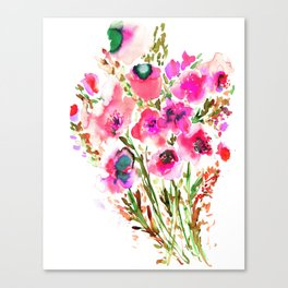 Bouquet Pink Canvas Print