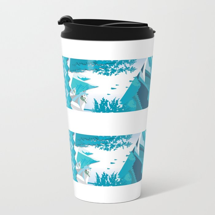 In The Ice Cold North Metal Travel Mug